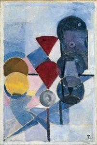 Composición II (Naturaleza muerta), (Theo van Doesburg, 1916)