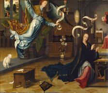 La Anunciación, c. 1520, Jan de Beer