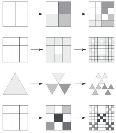 Diseño de 4 algoritmos fractales